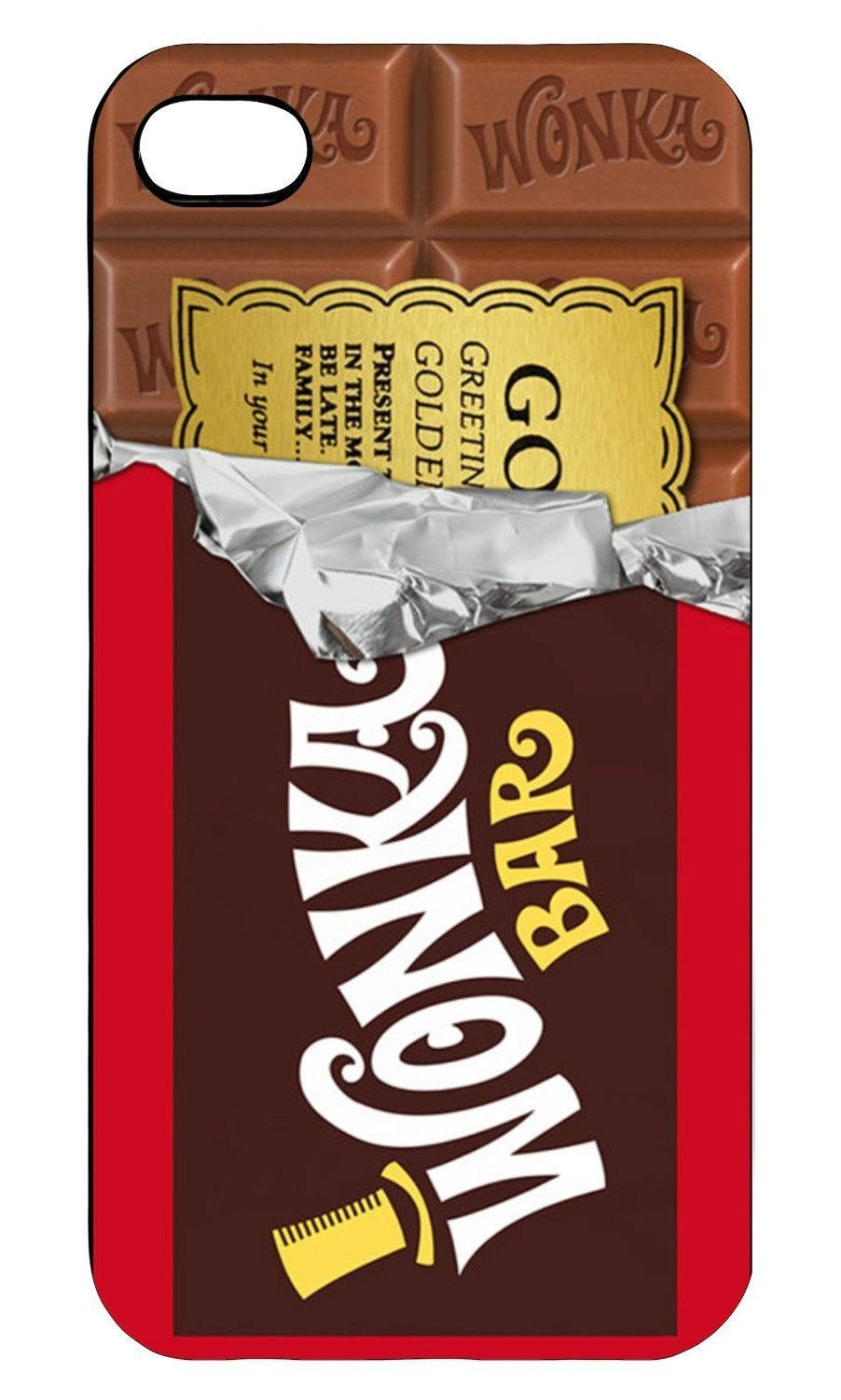 Golden Bar Willy Wonka Chocolate i013 IPHONE 4/4S: Amazon.co.uk ...