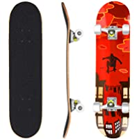 WeSkate Tavola completa per skateboard, 79 x 20 cm, in legno ABEC-7, cuscinetti a sfera da 31 pollici, 7 strati, in…