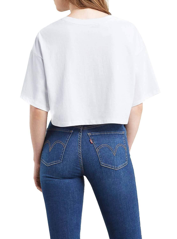 Camiseta Levis Graphic Slacker Blanco Mujer