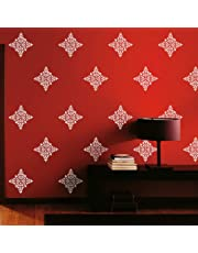 Arhat Stencils Glossy PVC ASR-E175 Damask Wall Stencils