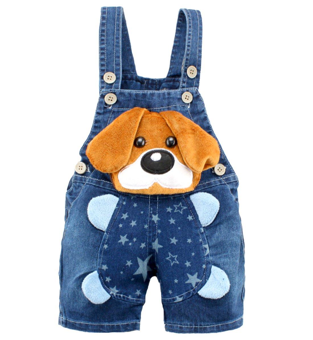 Kidscool - Pantalones cortos de verano para bebés y niñas con orejas amarillas grandes 1