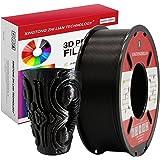PLA Gloeidraad 1.75mm 3D Printen Materiaal Gloeidraad Voor 3D Printer en 3D-pen Maatnauwkeurigheid +/- 0,02 mm (1KG, A Zwart)