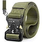 Bansga Cintura Militare Tattica per Uomo Heavy Duty Cintura Militare con Cintura Cintura in Nylon Resistente per Caccia Esecu