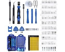YINSAN 120 in 1 Set Cacciaviti Precisione Magnetici Professionali, Kit Cacciavite di Riparazione Portatile per Orologio, Occh