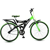 Hero Ranger DTB Steel Single Speed Mountain Bike, Adult 26T  Black/Green