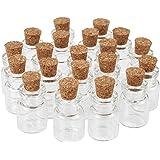 Pandahall 20PCS Bottiglie Wishing Bottiglie Vetro con Tappo in Sughero Flaconi Vuoti Desiderio Contenitori di Perline Bottiig