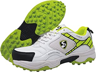 SG Club 2.0 Cricket Studs, Size 4 (White/Lime)