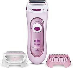Braun Silk-epil Lady Shaver 5-360 3-In-1 Kabelgebundener Elektrischer Damenrasierer, Trimmer- und Peeling-System, pink