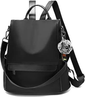 TcIFE Rucksack Daypack Damen Wasserdichte Nylon Schultasche Anti Diebstahl Schultertasche Leichtgewicht Reiserucksack