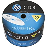 HP Logo CD-R80 700MB 52X (50 Pieces of 80 mins recordable CD Bulk Packed Spool Spindle)