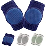 Baby Knee Pads for Crawling,Crawling Knee Pads Adjustable Protector Knee Pads for Toddler 3 Pairs
