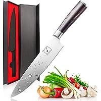 imarku Küchenmesser Chefmesser Allzweckmesser Kochmesser aus Hochwertigem Carbon Edelstahl mit Scharfer Klinge und Ergonomischem Holzgriff