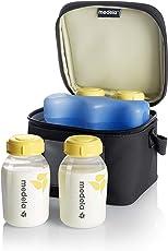 Medela Cooler Bag with Bottles, Black (Pack of 4)