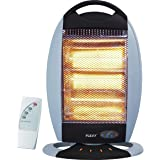 FLEXY® Germany 1200W Halogen Room Heater - 3 Temperatures, Remote, Timer Functions And 70° Rotation