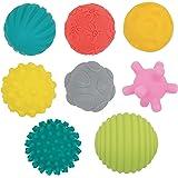 Set di 8 palline per il risveglio | Martedì | Palline per il risveglio assortite | Diverse forme e colori | Plastica morbida