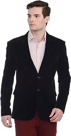 Black Ultrafine Velvet Slim Fit Blazer