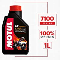 Motul 104091 7100 Ester 4T Fully Synthetic 10W-40 Petrol Engine Oil for Bikes (1 L)
