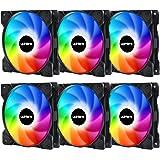upHere Ventilateur de 120mm LED,Ventilateur de boîtier RGB pour Les boîtiers de PC,Silencieux,Ventilateurs CPU et radiateurs