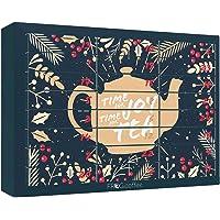 Tee-Adventskalender von FROG.coffee | Doppelter Genuss - 48 Teebeutel | Teekanne, ChariTea, Meßmer, Cupper, Bünting uvm…