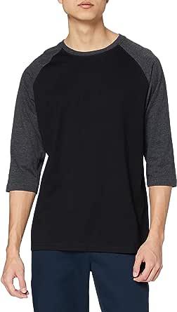 Urban Classics Men's Baseball T-Shirt, Contrast 3/4 Raglan Sleeve Shirt, Sports Shirt, Crew Neck, 100% Jersey Cotton, Different Colours Available, Sizes: S-5XL