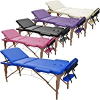 Table de Massage 3 Zones Classique Portables 180 x 56 cm. - ne pèse Que 13,3 kg. et avec Accessoires 14,5 kg…