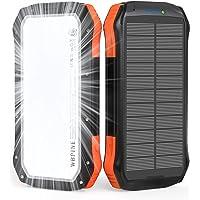 WBPINE Solar Powerbank 20100mAh,Wasserdicht Solar Ladegerät mit LED Licht und Dual 2.1 A-Ausgängen,Tragbares Handy…