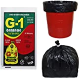G 1 Oxo Biodegradable Garbage Bags for Home Kitchen   19 X 21 Inch Medium Size   Black Color   90 Pieces ( Pack of 3 )   30 P