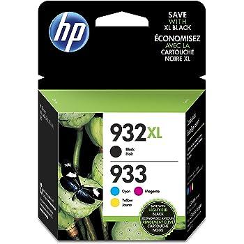 HP 932-933 XL Combo Pack C2P42AE Cartucce Originali Monocromatico, Ciano, Giallo e Magenta per Stampanti HP a Getto d'Inchiostro, Compatibili con HP OfficeJet 6100, 6600, 6700, 7110, 7510, 7610, 7612