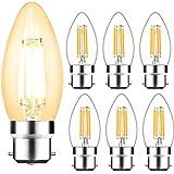 Svater 4W C35 B22 Ampoule LED à Filament Non Dimmable Bougie Ampoule 2700K Blanc Chaud Équivalent 40W Ampoule Incandescence 3