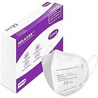 RELAXXX Mascherina Ffp2 filtri 95% Mascherine Ffp2 Certificate CE 5 Strati Passanti Orecchie Confezione da 10 PC