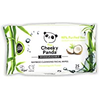 The Cheeky Panda – Facial Wipes, Coconut Scented | Pack of 25 Wipes | Make Up Remover, Hypoallergenic, Eco-Friendly…
