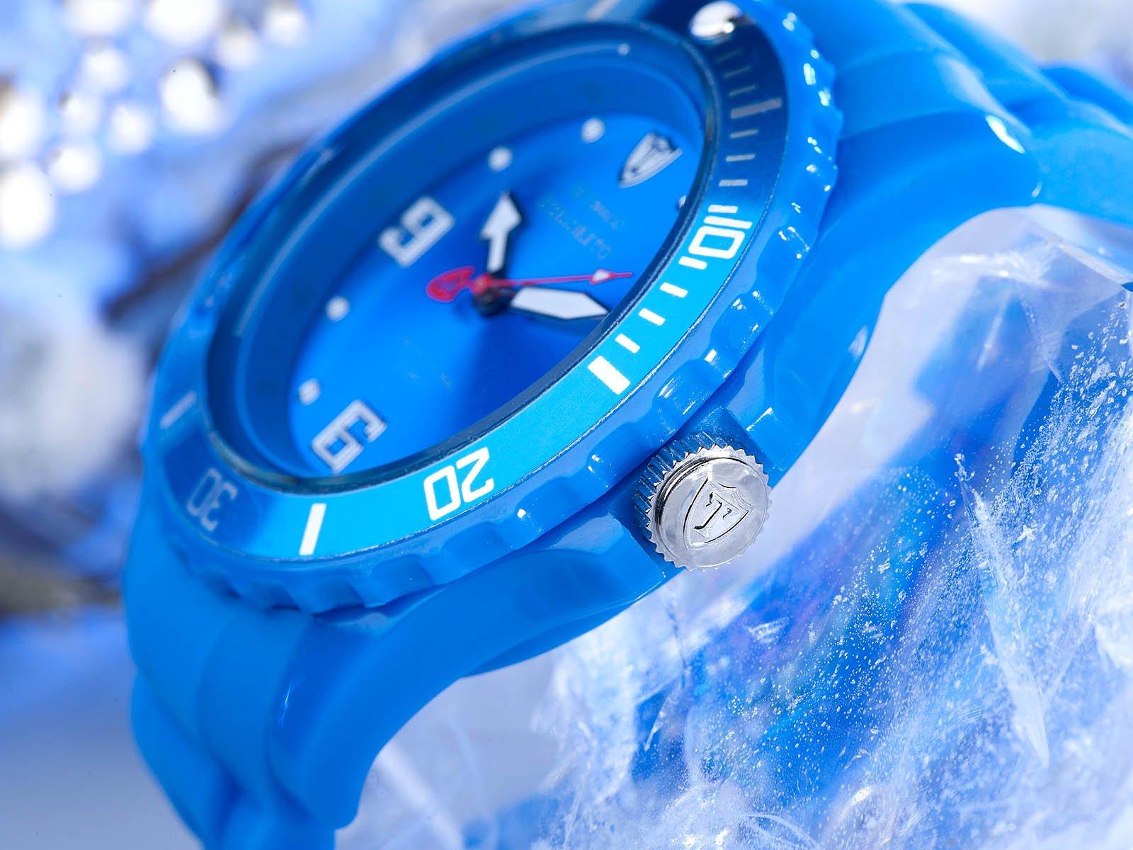 Detomaso DT3007-D – Reloj analógico de Cuarzo para Mujer con Correa de Silicona, Color Azul