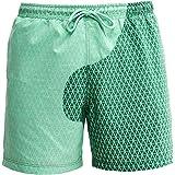 RZKJ Kleurwisselende zwembroek voor heren, sportbroek, korte strandbroek voor mannen, watergeving, verkleuring, strandbroek,