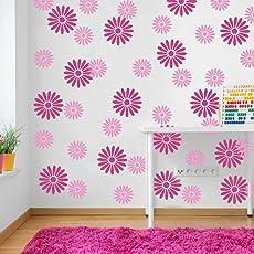 ARHAT STENCILS Floral PVC Glossy Wall Stencils