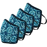 HomeStrap 3 Layer Reusable 4 Piece Printed Fashion Safety Outdoor Reversible Face Mask/Cover (Multicolour)