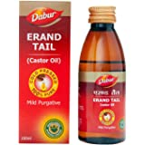 Dabur Erand Tail Pure Cold Pressed Castor Oil Provides Effective Relief From Constipation - 100 Ml