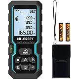 Misuratore Laser 50M,Mileseey IP54 Metro Laser con Sensore di Angolo Elettronico,Misura di Distanza Digitale Portatile con Li