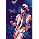 VVWV Dancing Legend Michael Jackson Smooth Criminal Posters Wall Living Room Motivational Wall Stickers W X H 12 X 18 Inches,