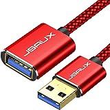 JSAUX Cable Rallonge USB 3.0 [3M] Câble Extension USB 3.0 Mâle A vers Femelle A 5Gbps Compatible pour Clé USB, Hub USB, Disqu