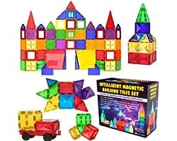 Desire Deluxe kit Bloques de Construcción Magnéticos 3D para Niños y Niñas de 3 4 5 6 y 7 Años - Juguete Educativo con Figura