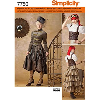Simplicity Schnittmuster 7750.R5 Historisches Kostüm: Amazon.de ...