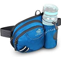 WATERFLY Gürteltasche Bauchtasche mit Flaschenhalter Damen und Herren, Atmungsaktiv Sport Hüfttasche für Laufen…