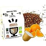 GRAALTEA - Infusion Dégustation - Rooibos & Orange BIO en Capsule - 100% d'Origine Naturelle - Made in France - 1 Paquet x 10