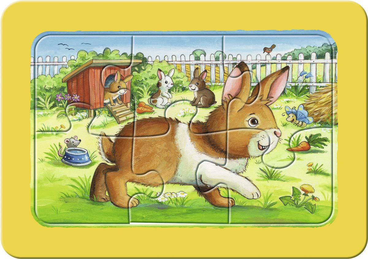 Ravensburger-Kinderpuzzle-07062-Ravensburger-07062-my-First-Puzzle-Meine-Tierfreunde-Kinderpuzzle