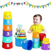Tasses à Empiler, Jouet à Empiler, Jouet Cubes Empilables, Jouet de Tasse Empilable, Jouets éducatifs Enfant pour Bébés…