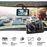 MEDION E49018 Dashcam Autokamera, 1080P Full HD, Weitwinkelobjektiv, WDR, Loop-Recording, Bewegungserkennung, Nachtaufnahmen, An und Abschaltfunktion, G-Sensor, SD-Karte