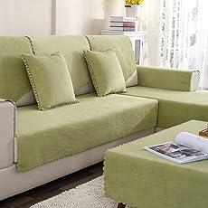 TT&CC Plüschsofa Slipcover,Wasserdichte Urin Anti-Rutsch-Hund Baby Sofa Beschützer Volltonfarbe Wohnzimmer Kombination Couch Handtuch