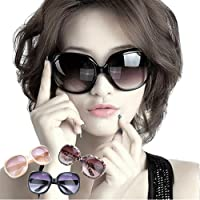 Jasper Finn LARGE OVERSIZED LADIES WOMEN SUNGLASSES DESIGNER BIG FRAME RETRO VINTAGE FASHION (Black)