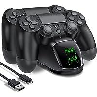 HELLCOOL PS4 Controller Ladestation, 2Std Schnelllade Ladestation PS4 Controller, Ladegerät mit LED Anzeige für…