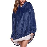 iClosam Coperta Donna con Cappuccio Felpa Oversize Blanket Hoddie Pullover Confortevole Unisex Adulti, Uomini, Ragazzi E…